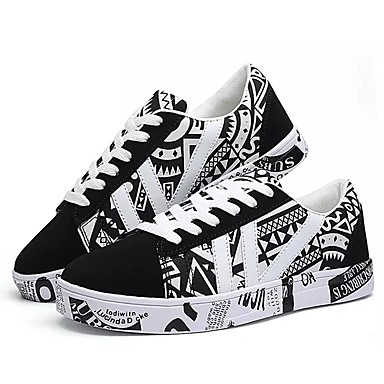 בגדי ריקוד גברים PU אביב / סתיו נוחות נעלי ספורט לבן / כחול / כתום ושחור