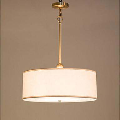 ZHISHU 3-אור מנורות תלויות תאורה כלפי מטה Brass מתכת בד סגנון קטן 110-120V / 220-240V נורה כלולה / E26 / E27