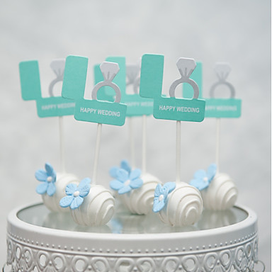 קישוטים לעוגה פנטזיה חתונה לב עבודת יד חתונה Party עם 1 OPP