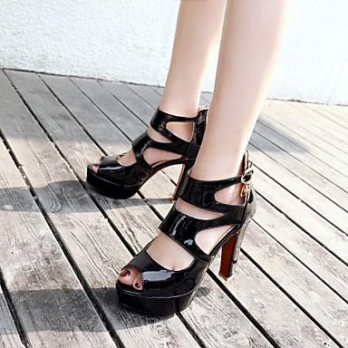 Sandales Café à Chaussures ouvert Noir Bottes amp; la Bottine Eté Boucle Strass Verni Femme Mode Talon Evénement Printemps Bottier 06554279 Botte Soirée Bout Beige Cuir Demi zOdqn1Y