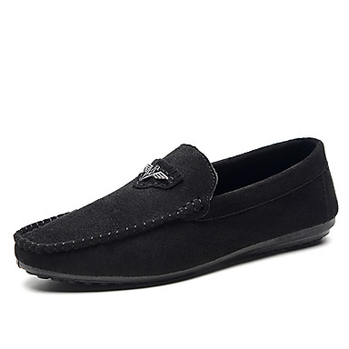 Homens sapatos Micofibra Sintética PU Primavera / Verão Conforto / Sapatos de mergulho Mocassins e Slip-Ons Preto / Vermelho