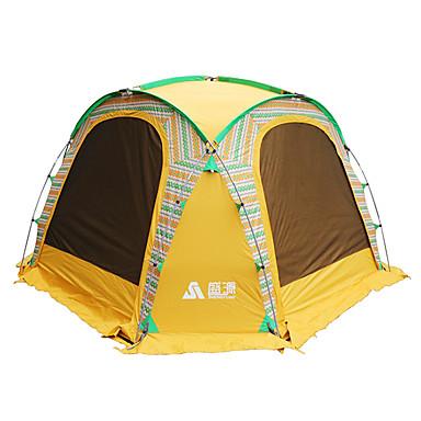 Sheng yuan 5-8 osób Namiot Pojedynczy Namiot kempingowy One Room Rodzinne namioty biwakowe Składany na Camping & Turystyka Wędkarstwo