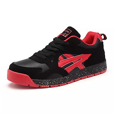 בגדי ריקוד גברים עור נאפה Leather / PU אביב / סתיו נוחות נעלי אתלטיקה הליכה שחור לבן / שחור אדום / שחור / כחול