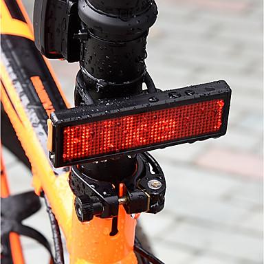 פנס אחורי לאופניים / אורות בטיחות / אורות זנב LED רכיבת אופניים עמיד במים, נטענת, פלאש סוללה ניתן לטעינה מחדש 300 lm USB / ניתן לטעינה אדום מחנאות / צעידות / טיולי מערות / רכיבה על אופניים