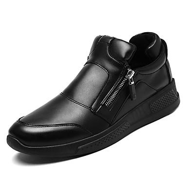 בגדי ריקוד גברים אור סוליות PU אביב / סתיו נעלי ספורט שחור / אדום / שחור לבן