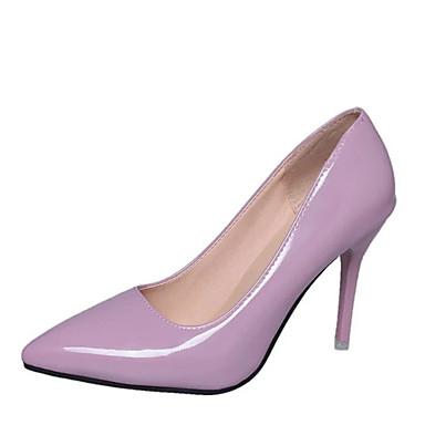 בגדי ריקוד נשים נעליים PU אביב / קיץ נוחות / מגפיים אופנתיים עקבים עקב קצר בוהן מחודדת לבן / שחור / ורוד / שמלה