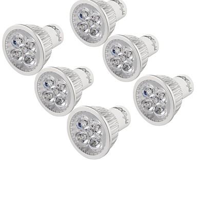 YouOKLight 6 szt. 4 W 320 lm GU10 Żarówki punktowe LED 4 Koraliki LED LED wysokiej mocy Dekoracyjna Ciepła biel 85-265 V