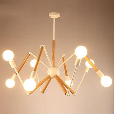 LightMyself™ 8 świateł Lampy widzące Światło rozproszone Malowane wykończenia Metal Drewno / Bambus Czarno-biały 110-120V / 220-240V Ciepła biel / Biały Zawiera żarówkę / E26 / E27