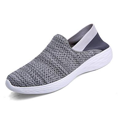 Męskie Komfortowe buty Dzianina Wiosna / Jesień Adidasy Spacery Szary / Niebieski