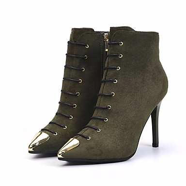 9a77bb51645b Women's Boots Stiletto Heel Nubuck leather Booties / Ankle Boots Comfort /  Bootie Fall / Winter Black / Army Green / Red