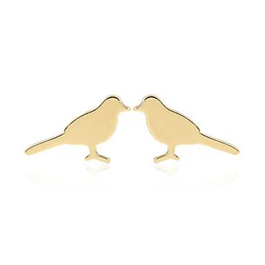 בגדי ריקוד נשים עגילים צמודים - ציפור אופנתי זהב / כסף / זהב ורד עבור יומי / חגים