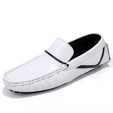 בגדי ריקוד גברים מוקסין PU אביב / סתיו נעליים ללא שרוכים לבן / שחור / כחול