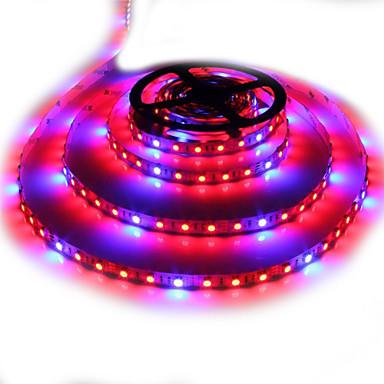 Zdm 5 m à prova d 'água 5050 4 vermelho + 1 azul espectro completo levou crescer luz 300 leds levou lâmpadas de tira para plantas que crescem não à
