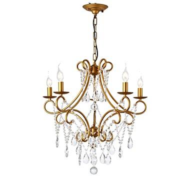 LightMyself™ 5 świateł Żyrandol Światło rozproszone Malowane wykończenia Metal 110-120V / 220-240V Nie zawiera żarówek / 10/5 ㎡ / E12 / E14