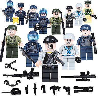 hesapli Oyuncaklar ve Oyunlar-Legolar Askeri bloklar İnşaat Seti Oyuncakları 19 pcs İnsan Asker uyumlu Legoing Okul Stres ve Anksiyete Rölyef Ebeveyn-Çocuk Etkileşimi Klasik İnsanlar Görüntü Unisex Genç Erkek Genç Kız Oyuncaklar