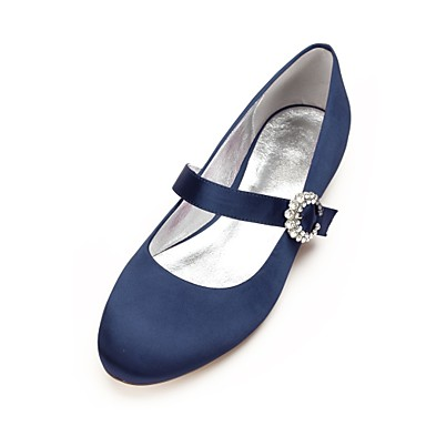 Femme Plat Eté de Printemps Talon Mary Chaussures Strass Jane Confort Ballerine Satin 06595117 Brillante Paillette mariage Chaussures rgFHrtq7w