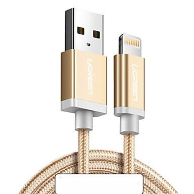 Oświetlenie Adapter kabla USB Wysoka prędkość / Szybka opłata Kable Na iPhone 100 cm Na Nylon
