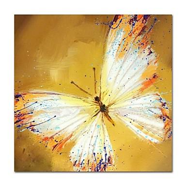 Hang-Malowane obraz olejny Ręcznie malowane - Abstrakcja Nowoczesne / Nowoczesny Płótno / Rozciągnięte płótno