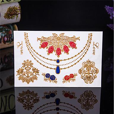 1 pcs Naklejki z tatuażem Tatuaże tymczasowe Seria totemiczna Wodoodporny Sztuka na ciele Korpus / Ręka / Ramię