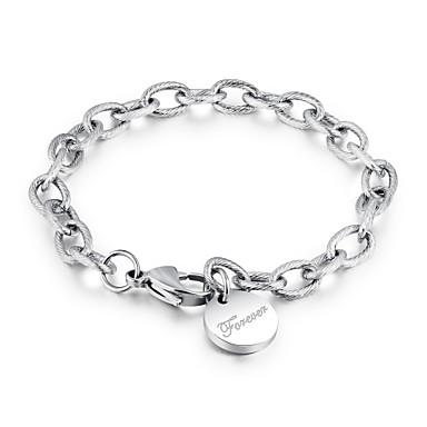 billige Motearmbånd-Dame Vedhend Armband damer Tegneserie Rustfritt stål Armbånd Smykker Sølv / Rose Gull Til Fest Daglig