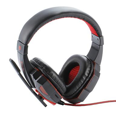 Plextone PC780 A fülön túl Fejpánt Vezetékes Fejhallgatók Műanyag Játszás Fülhallgató Zajszűrő Mikrofonnal A hangerőszabályzóval
