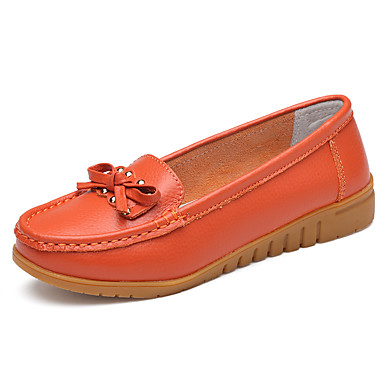 e831fb9692c Women s Shoes Cowhide Spring   Fall Comfort Flats Flat Heel Yellow   Red    Pink