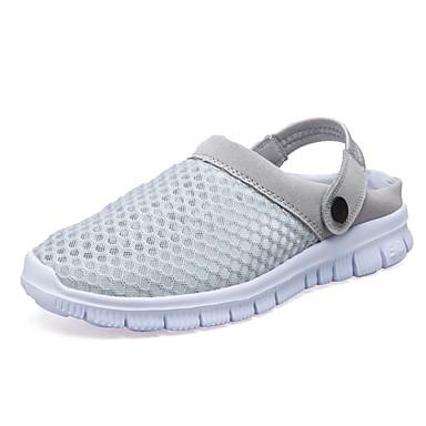 Mujer Zapatos PU Primavera / Otoño Confort Zapatillas de deporte Paseo Tacón Plano Dedo redondo Con Cordón Rosa / Azul Claro / Rosa claro