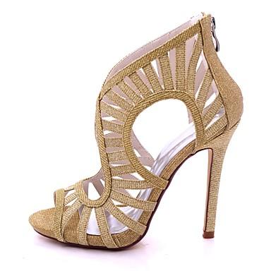Eté Printemps Bout Paillette ouvert Argent 06580687 Boucle Basique Talon Noir Chaussures Brillante Femme Escarpin Aiguille Sandales Rouge vxwtgIvq
