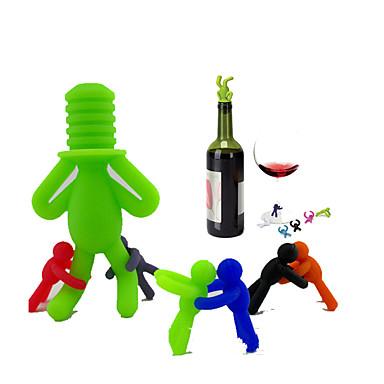 Stopery do wina Silikon, Wino Akcesoria Wysoka jakość Twórczy na Barware Klasyczny / Wygodny / Kreatywny gadżet kuchenny 7 szt.