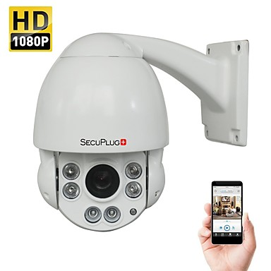 605466cd766 SecuPlug Outdoor 2.0MP 1080P Speed Dome IR IP PTZ Camera with 10X Optical  Zoom and 100-150ft Night Vision Onvif Supported 6560103 2019 –  159.99