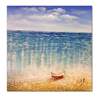 styledecor® nowoczesny ręcznie malowany niebieski obraz olejny na płótnie do salonu lub salonu gotowy do powieszenia sztuki