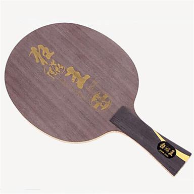 DHS® Hurricane King FL Ping Pang/מחבטי טניס שולחן עץ סיבי פחמן גוּמִי ידית ארוכה פצעונים