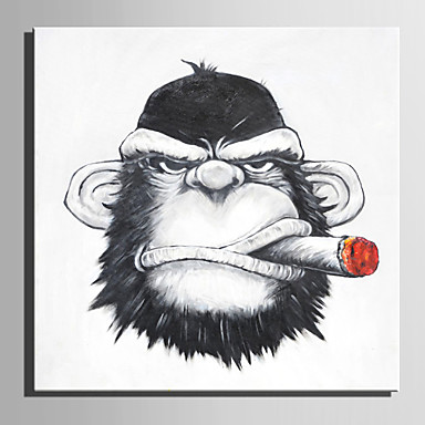 ציור שמן צבוע-Hang מצויר ביד - מופשט סרט מצויר מודרני בַּד