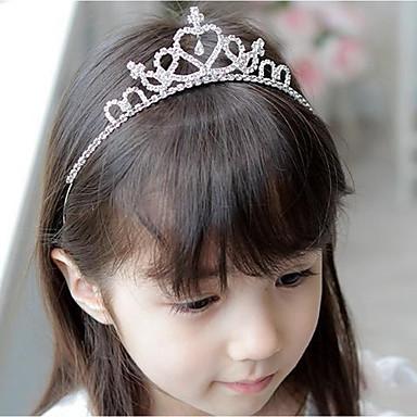 رخيصةأون للأولاد أغطية الرأس-حجم واحد فضي اكسسوارات الشعر للفتيات أطفال / مشابك ومخالب