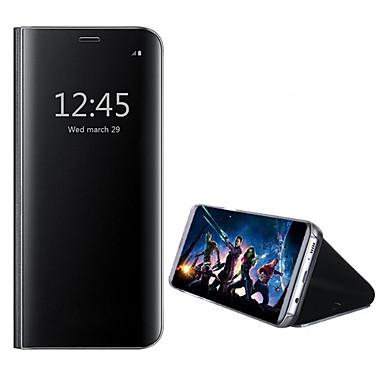 מגן עבור Huawei Honor View 10(Honor V10) עם מעמד מראה כיסוי מלא צבע אחיד קשיח עור PU ל Huawei Honor View 10