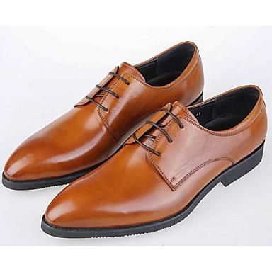 Męskie Nappa Leather / Skórzany Wiosna / Jesień Comfort Oksfordki Black / Light Brown