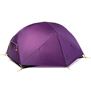 Naturehike 2 الأشخاص  في الهواء الطلق خيم حقيبة الظهر ضد الهواء مقاوم للماء مكتشف الأمطار جيدة التهوية حماية UV قطب الماسورة القبة غرفة واحدة طبقات مزدوجة >3000 mm خيمة التخييم  إلى عن على