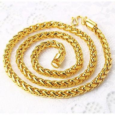 בגדי ריקוד גברים שרשרת - ציפוי זהב רוק זהב שרשראות עבור רחוב, מועדונים