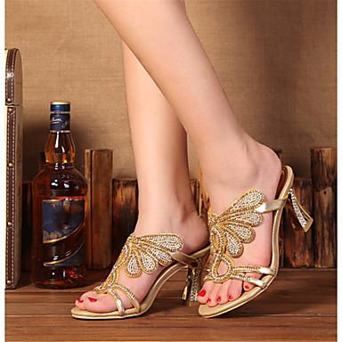 Bottes Cristal à Bottier la Talon Femme Sandales Strass ouvert 06602203 Printemps Eté Bout Brillante Paillette Chaussures Polyuréthane Mode xw66IqfnA