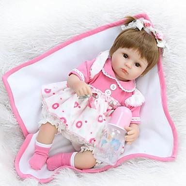 NPK DOLL Lalki Reborn Dziecko 16 in Silikon Winyl - Noworodek Jak żywy Śłodkie Wyrób ręczny Bezpieczne dla dziecka Nowy design Dzieciak Unisex / Dla dziewczynek Zabawki Prezent / Dyskietka