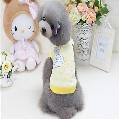 כלבים טי שירט טרנינג בגדים לכלבים מילה / ביטוי צהוב ורוד כותנה/ פוליאסטר תחפושות עבור חיות מחמד יום יומי\קז'ואל