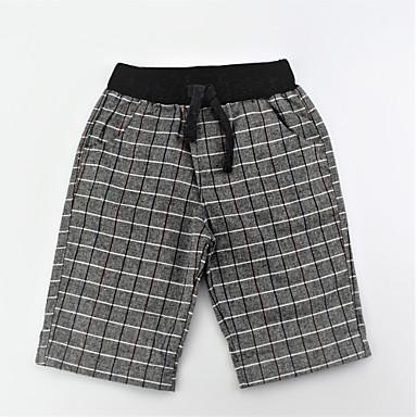 מכנסיים כותנה קיץ יומי קולור בלוק סרוג בנים פשוט יום יומי אפור