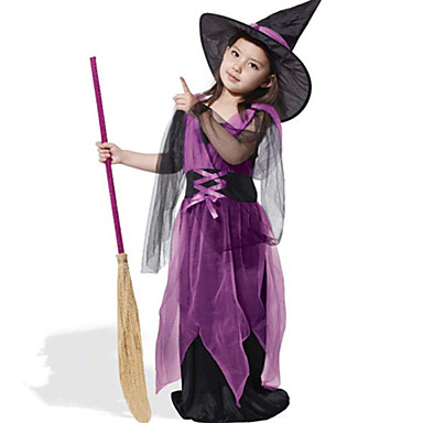 Witch Cosplay Costume Kid's Halloween Festival / Holiday Halloween Costumes Fashion