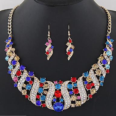 70254b3be3c2 Mujer Geométrico Conjunto de joyas Cristal Ola damas