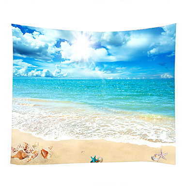 Motyw plażowy / Motyw morski Dekoracja ścienna 100% poliester Nowoczesny Wall Art, Ścienne Gobeliny Dekoracja