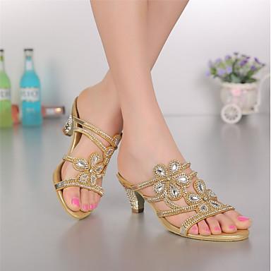 ouvert Bottier Chaussures 06601867 à Sandales Femme Eté Bout la Mode Brillante Polyuréthane Talon Bottes Paillette Printemps Strass Cristal Bdqqvx7wH
