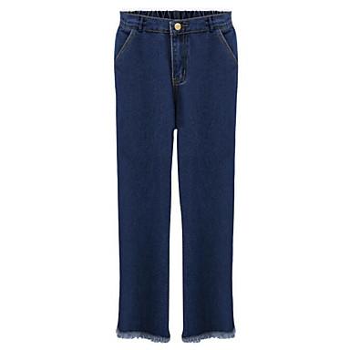 בגדי ריקוד נשים פשוט ג'ינסים מכנסיים אחיד / אביב