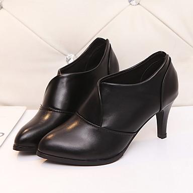06601244 Talon Aiguille Cuir Confort Chaussures Rouge Printemps à Automne Talons Polyuréthane Chaussures Femme Bout pointu Noir Z4qpSS