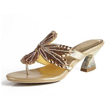 4b9a654f4ef7fa Women s Polyurethane Spring   Summer Fashion Boots Sandals Chunky Heel Open  Toe Rhinestone   Crystal   Sparkling Glitter Gold   Black   Silver   Buckle  ...