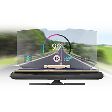 Head Up Display Dobrável para Carro Display KM / h MPH